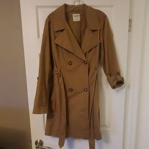 Old Navy Cotton Trench Coat Size L
